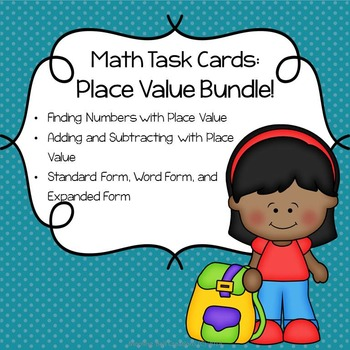 Math Task Cards Bundle: Place Value