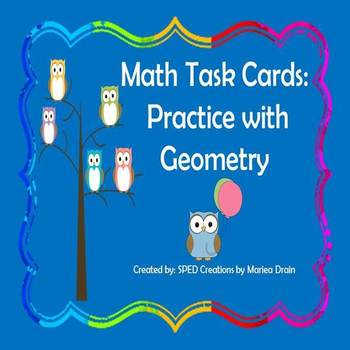Geometry: Math Task Cards and PowerPoint Show