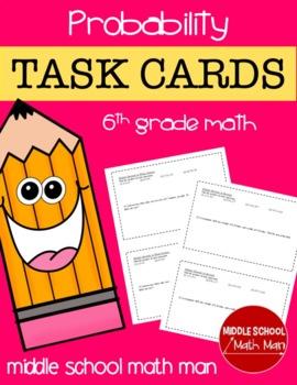 Math Task Cards (Probability) - 6th Grade Math