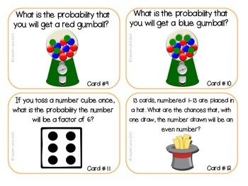 Math Task Cards: Probability {Enhanced with Augmented Reality}