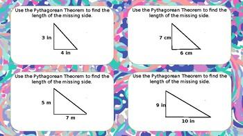 Math Task Cards Pythagorean Theorem