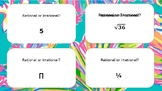 Math Task Cards Rational and Irrational Numbers