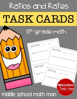 Math Task Cards (Ratios and Rates) - 6th Grade Math