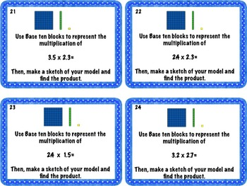 Math Task Cards: Represent and solve problems using multiplication of decimals