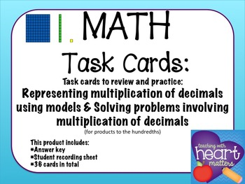 Math Task Cards: Represent and solve problems using multip