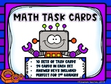 Math Task Cards - Robot Theme - 10 Sets