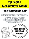 Math Task Cards: Rounding numbers to the Hundred Thousands Place in COLOR andB&W