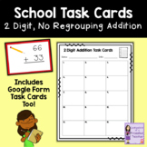 Math Task Cards   School   2 Digit, No Regrouping Addition