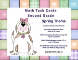 Math Task Cards-Second Grade Review Supports CCSS Spring Theme