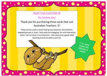 Math Task Cards Set# 2