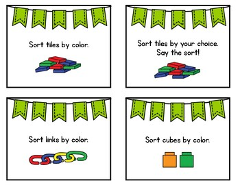 Math Task Cards: Composing Shapes & Sorting