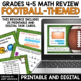 Math Task Cards: Skill Review With A Football Theme