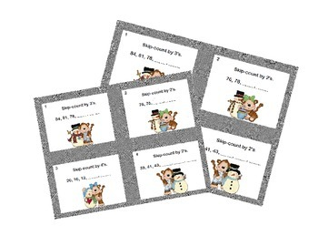 Math Task Cards-Skip Counting Second Grade 2's,3's,4's,and 5's (2-99)