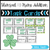 Math Task Cards - St. Patrick's Day 10 Frame Addition