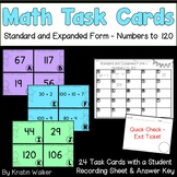Math Task Cards - Standard and Expanded Form - Numbers to 120