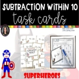 Subtraction from 10 Task Cards Math Center