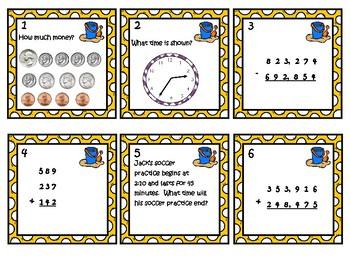 Math Task Cards - Summer