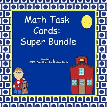 Math Task Cards and PowerPoint Shows Super Bundle