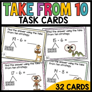 Math Task Cards (Take from ten strategy)