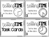 Math Task Cards:  Telling Time to the Hour and Half Hour