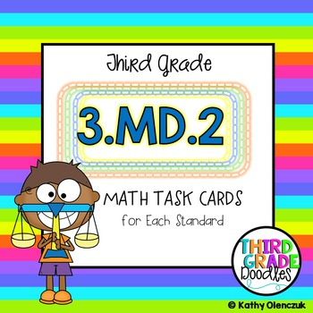 Math Task Cards -- Third Grade Mass & Volume