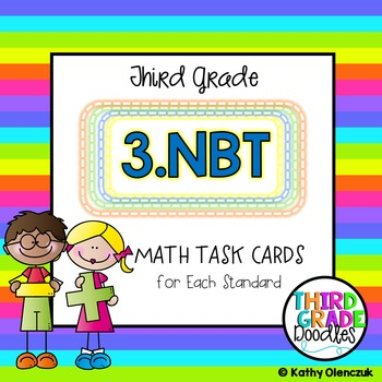 Math Task Cards -- Third Grade Numbers & Operations in Base Ten