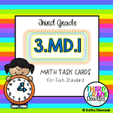 Math Task Cards 3rd Grade Telling Time/Elapsed Time Word Problems