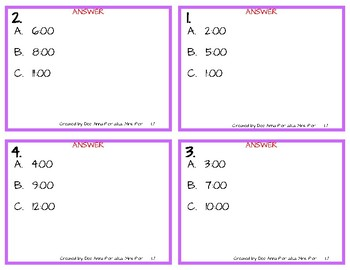 Math Task Cards - Time