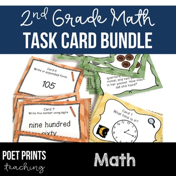 Task Cards Time, Money, Numbers, Math Center