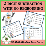 Math Task Cards - Two Digit Subtraction - No Regrouping +