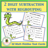 Math Task Cards - Two Digit Subtraction With Regrouping +