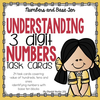 Math Task Cards: Understanding 3 Digit Numbers