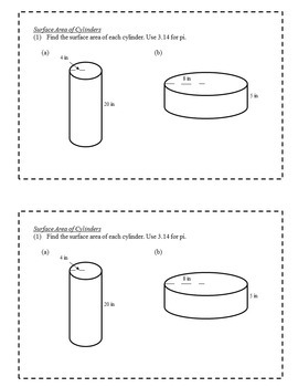 Math Task Cards (Volume and Surface Area) - 6th Grade Math