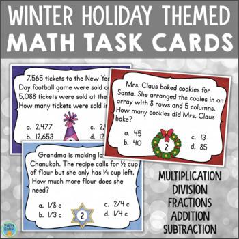 Grade 3 Math Task Cards: Multiplication Fractions Addition
