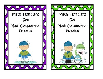 Math Task Cards - Winter
