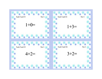 Math Task Cards- Winter Theme -Grades 1-2 Add Subtract within 20