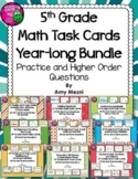 5th Grade Math Task Cards Year-long BUNDLE FSA Style Questions HOTS