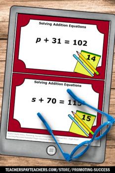 Middle School Algebra Task Cards 5th 6th Grade Math ...