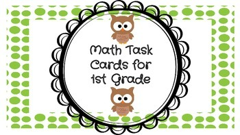 Math Task Cards for 1st Grade