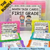 Math Task Cards for 1st Grade- GROWING BUNDLE
