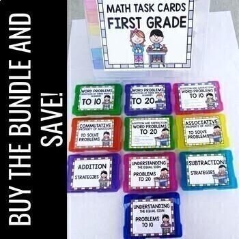 Math Task Cards for 1st Grade- BUNDLE