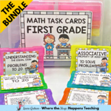 Math Task Cards for 1st Grade- BUNDLE
