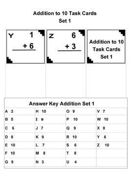 Math Task Cards for 1st Grade Sampler Set