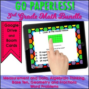 Math Task Cards Bundle for 3rd Grade Common Core Standards Test Prep