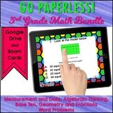 Test Prep Task Card Google Classroom™ 3rd Grade Math Bundle
