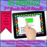 3rd Grade Math Test Prep Task Card Bundle Fractions, Area