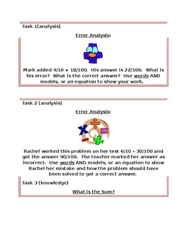 Math Task Cards for 4NF 5, 6, 7