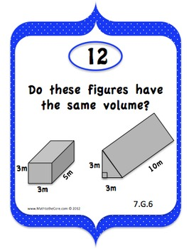 Geometry Area, Volume, & Surface Area CCS 7.G.6