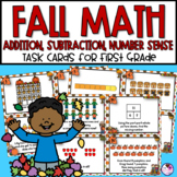Fall Math Task Cards for First Grade
