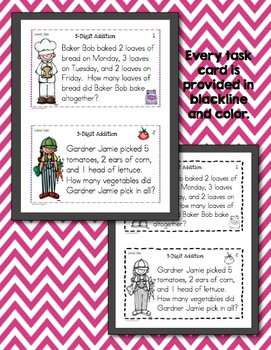 Math Task Cards for First Graders (Common Core Aligned 1.OA.2)